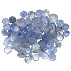 11.98 ctw Round Mixed Tanzanite Parcel