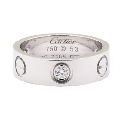 Cartier 0.30 ctw Diamond Love Ring - 18KT White Gold