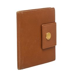 Bvlgari Brown Leather Bifold Wallet