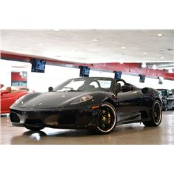 2006 Black Ferrari F430 Spider F1 Convertible