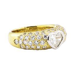 2.10 ctw Diamond Ring - Platinum and 18KT Yellow Gold