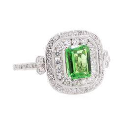 1.21 ctw Tsavorite and Diamond Ring - Platinum