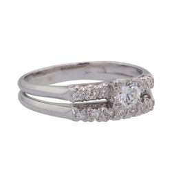 0.5 ctw Diamond Ring - 14KT White Gold