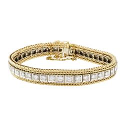 3.40 ctw Diamond Bracelet - 14KT Yellow and White Gold