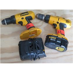 Qty 2 DeWalt Cordless Drill/Driver & Charger