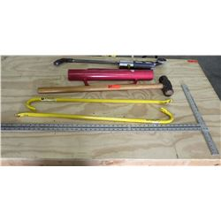 Qty 2 Stanley Wrecking Bars,  Sledgehammer, Rust-Oleum Marking Wand, etc