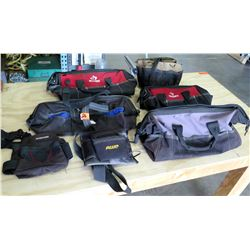 Qty 7 Canvas Tool Bags, Tool Belts - Husky, AWP, etc