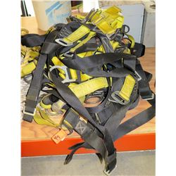 Multiple Misc Nylon Safety Harnesses w/ Fittings