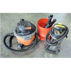 Qty 2 Shop Vacuums & Attachments - Stanley & Ridged