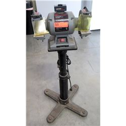 """Craftsman 6"""" Bench Grinder 1/3 HP 2.8 Amps HD Induction Motor on Stand"""