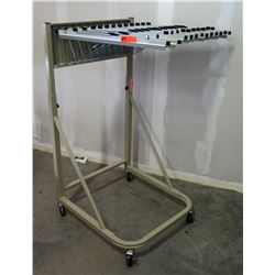 Rolling Rack for Hanging Plans or Drawings