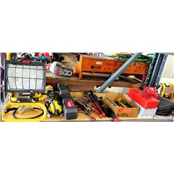 Ace Shop Lamp, Husky & Misc Power Tools, Cases, Hand Tools, etc