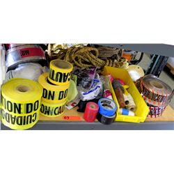 """Qty 5 Rolls """"Caution"""" Tape, """"Communication"""" Tape, Misc Colored Tape, etc"""