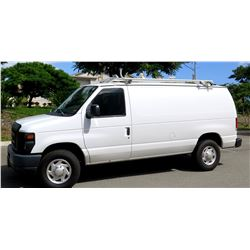 2011 Ford E-350 Super Duty Van w/Shelving & Roof Rack (contents not included) 43,142 Miles