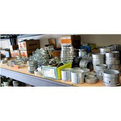 Multiple Cases Bridgeport Plastic Bushings, Zinc Connectors, Conduit Assembly, etc