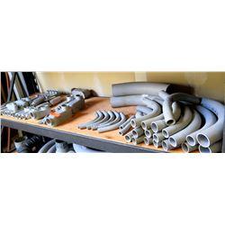 Multiple PVC Conduit, Elbows, Junction Boxes, Connectors, etc