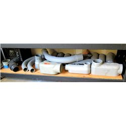 Multiple PVC Conduit, Elbows, Junction Boxes, Connectors, etc