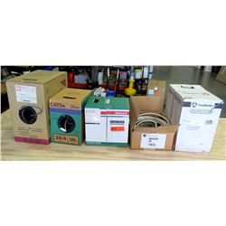Qty 5 Boxes - Southwire Tappan Wire, Honeywell Genesis Low Voltage Cable, etc