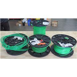 Qty 4 Vandoor Corporation Dead Bolt Reels 11.75x5 Green Wire