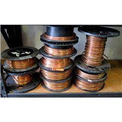 Qty 10 Misc Size Reels Copper Wire