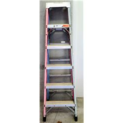 Red Commercial Step Ladder