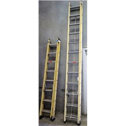 Qty 2 Commercial Locking Extension Ladders