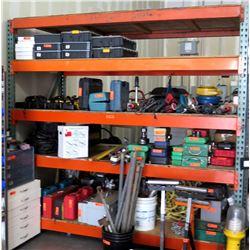 Metal Adjustable 4 Tier Warehouse Shelf (Contents NOT Included)