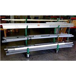 Pipe Rack w/ Misc PVC Pipe, Metal Framing, Conduits, etc