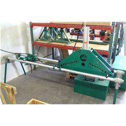 "Greenlee Portable Hydraulic Bender 1-1/4""- 5"" Pipe Bender w/ Accessories (Works-See Video)"