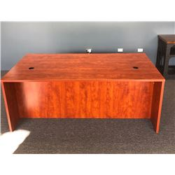 Wooden Desk w/ 2 Cabinets - Unassembled, Included Binders