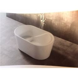 New Free Standing Acrylic Soaking Tub with Floor Mounted Faucet