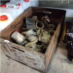 CRATE OF FIREWORKS MORTARS