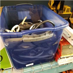 TOTE OF POWER BARS AND EXTENSION CORDS