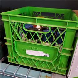 GREEN CRATE OF SPRAY PAINT
