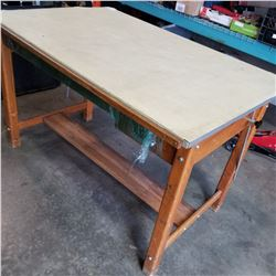 OAK WORK BENCH