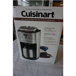 CUISINART STAINLESS BURR GRIND AND BREW 12 CUP COFFEE MAKER