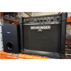 BEHRINGER GM108 GUITAR AMP AND PHILLIPS AMP