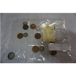 SHEET OF ENGLISH PENNIES 1896-1969
