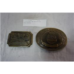 POLICE BELT BUCKLE AND WINCHESTER BELT BUCKLE