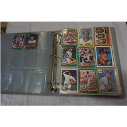 GREY BINDER OF BASEBALL CARDS