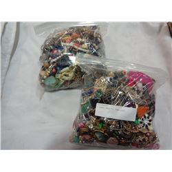 2 LARGE BAGS OF JEWELLERY