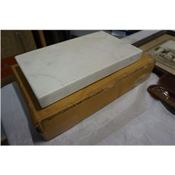 2 MARBLE CUTTING BOARDS