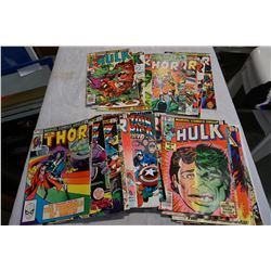 BOX OF 30 COMICS, BRONZE AGE HULK, THOR AND CAPTAIN AMERICA