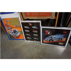 3 HOT WHEELS RED LINE POSTERS