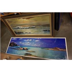 OIL PAINTING AND SEA PRINT