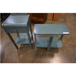 PAINTED 1 DRAWER END TABLE AND STAND