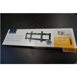 NEW OVERSTOCK INSIGNIA 13-32 INCH FIXED POSITION TV WALL MOUNT 40LB CAPACITY