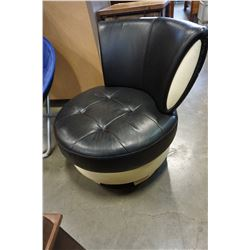 MODERN BLACK AND WHITE SWIVEL CHAIR