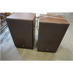 PAIR OF JVC SPEAKERS IN WOOD CASE
