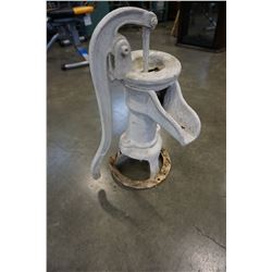 ANTIQUE CAST IRON WHITE WATER PUMP
